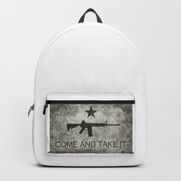 Come and Take it Flag with AR-15 Backpack