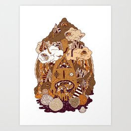 Of the forest Art Print