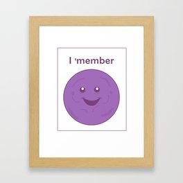 I member - member berries Framed Art Print