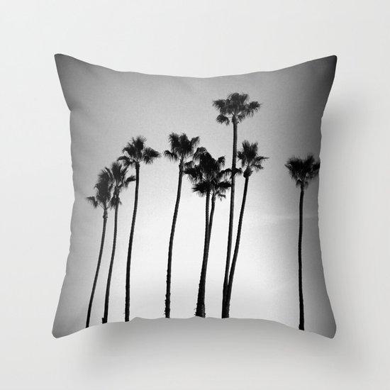 palm trees land Throw Pillow