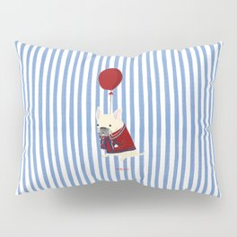 French Bulldog with Stripe Pillow Sham