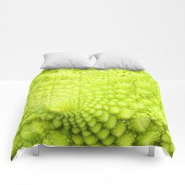 Closeup on Green cauliflower Comforters