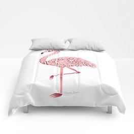 Funky Tribal Flamingo Comforters
