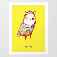 Pretty Owl. Kids decor - nursery decor - owl art Art Print