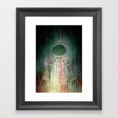 Spacesuit Alien Framed Art Print