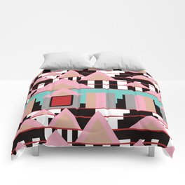 Postmodern City Skyline Comforters