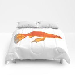 Cute Fish Goldfish Animal Colorful Orange Art Pets Aquarium Gift Idea Birthday Friends Comforters