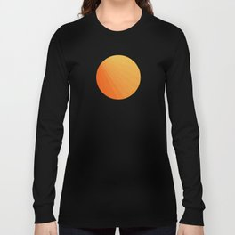 Shades of Sun - Line Gradient Pattern between Light Orange and Pale Orange Long Sleeve T-shirt