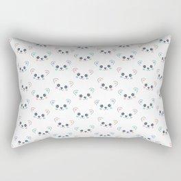 Cute Bear Cub Face Rectangular Pillow