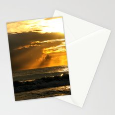 Golden Beach Sunset Stationery Cards
