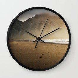 Sunny morning in Iceland Wall Clock