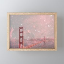 Stardust Covering San Francisco Framed Mini Art Print