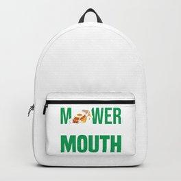 Lawn Mower Mowing Grass Gardener Gardening Hobby  Backpack