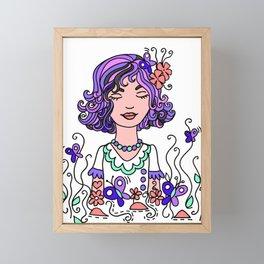 Style Girl - Emma - Doodle Art Framed Mini Art Print