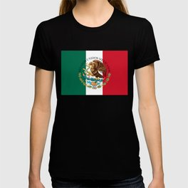 Flag of Mexico & Coat of Arms augmented scale T-shirt