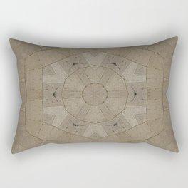 Beige Stone Hexagon Motif Rectangular Pillow