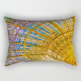 Barcelona, Spain. Palau de la musica catalana, seiling Rectangular Pillow