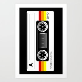 Retro audio cassette tape Art Print