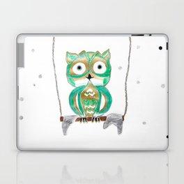 Owl Fun #1 #mint #green #gold #drawing #decor #art #society6 Laptop & iPad Skin