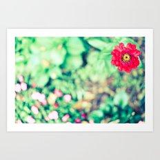 Ruby Petals Art Print