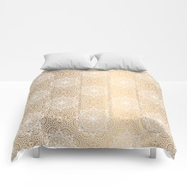 Gold Mandala 18 Comforters