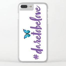 #daretobelove Clear iPhone Case