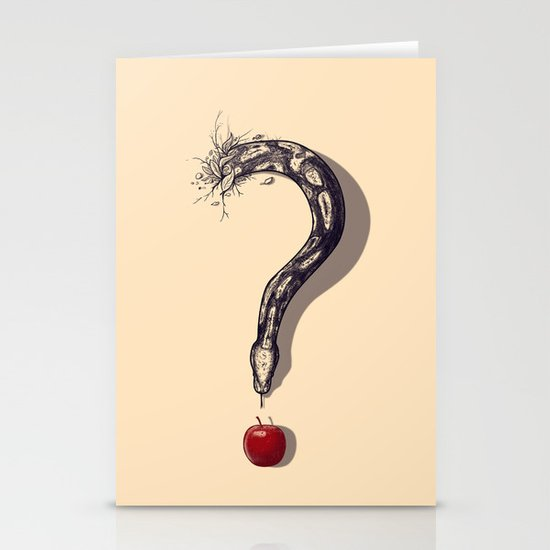 Curious Temptation Stationery Cards