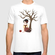 Skin White as Snow White MEDIUM Mens Fitted Tee