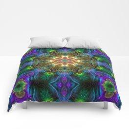 Neon Mandala Comforters