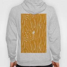 Floral doodles in orange Hoody