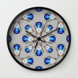 Labradorite Beetles Pattern Wall Clock