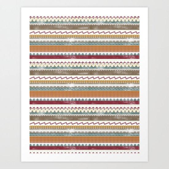 AZTEC STRIPES Art Print