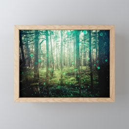 Magical Green Forest - Nature Photography Framed Mini Art Print