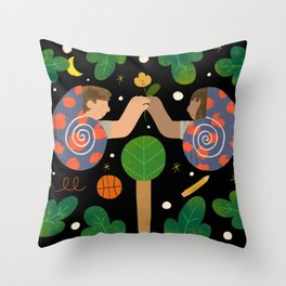 Two Snails Throw Pillow