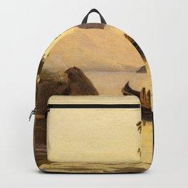 Jean-Baptiste-Camille Corot - Vue de Riva, Tyrol italien Backpack
