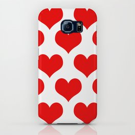 Holidaze Love Hearts Red iPhone Case