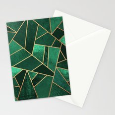 Emerald and Copper Stationery Cards