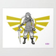 Legend of Zelda - a new Link Art Print