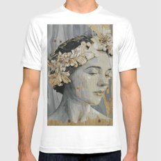 Portrait MEDIUM Mens Fitted Tee White