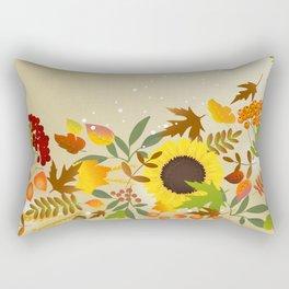 Golden Thanksgiving Rectangular Pillow