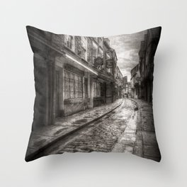 Ghostly Shambles York Vintage Throw Pillow