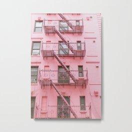 Pink Soho NYC Metal Print