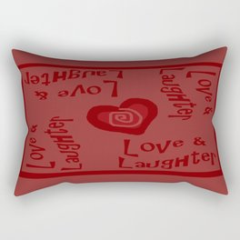 Love & Laughter Rectangular Pillow