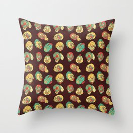 Luchadores Throw Pillow