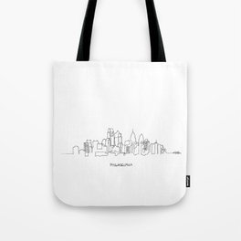Philadelphia Skyline Drawing Tote Bag