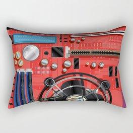 Computer Motherboard Electronics. Rectangular Pillow