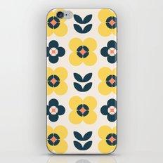 Vintage geometric flowers II iPhone & iPod Skin