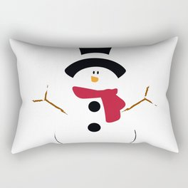 There's no man like a Snowman Rectangular Pillow
