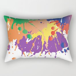 Colourful Paint splash Rectangular Pillow