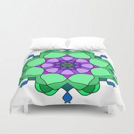 floral mandala gzhel effect Duvet Cover